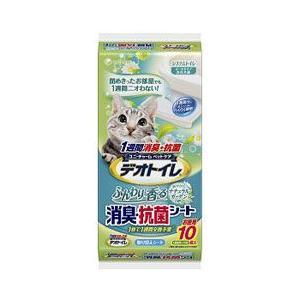 猫用品 ユニチャーム 猫用ペットシーツ デオトイレ ふんわり香る 消臭・抗菌シート 10枚|pet-square