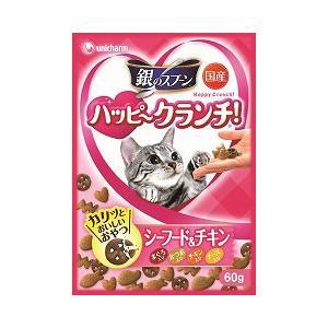 猫用品 ユニチャーム 猫用おやつ 銀のスプーン ハッピークランチ シーフード&チキン 60g|pet-square
