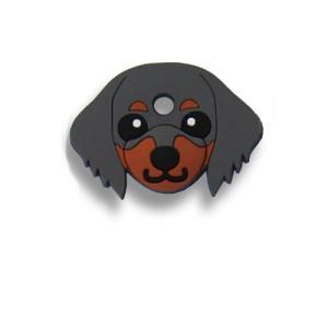 フィールドポイント ドッグ キーカバー(犬の鍵カバー) ダックスフンド ブラック&タン|pet-square