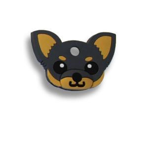 フィールドポイント ドッグ キーカバー(犬の鍵カバー) チワワ ブラック&タン|pet-square