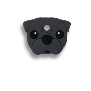 フィールドポイント ドッグ キーカバー(犬の鍵カバー) パグ ブラック|pet-square
