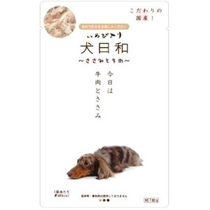 犬日和 レトルト ささみと牛肉 80g|pet-square