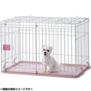 IINA 犬用ゲージ ドッグルーム ピンク INM-001|pet-square