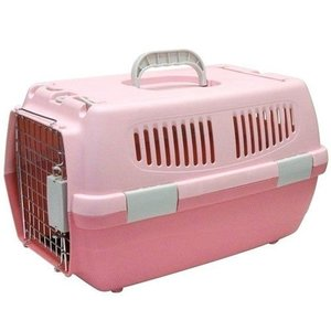 IINA 犬 キャリーバッグ ペットキャリー 2ドア ピンク INM-001|pet-square