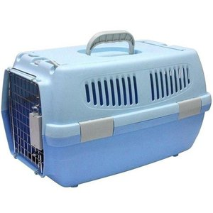 IINA 犬 キャリーバッグ ペットキャリー 2ドア ブルー INM-002|pet-square