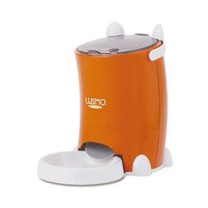 ルスモ 自動給餌器 犬 猫 ペット 自動餌やり機 ペットフード オートフィーダ オレンジ L-AF110O|pet-square