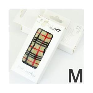 犬用靴下 ペットソックス 4足 チェック M|pet-square
