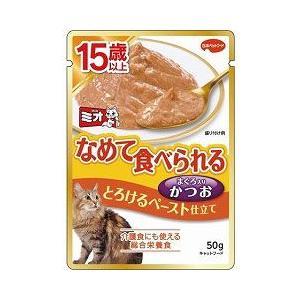 猫用品 ミオ レトルト 15歳以上 とろけるペースト かつお 50g|pet-square