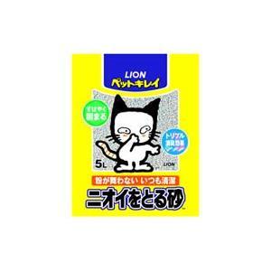 猫用品 ライオン ペットキレイ猫砂 ニオイをとる砂 5L (猫のトイレ砂)|pet-square