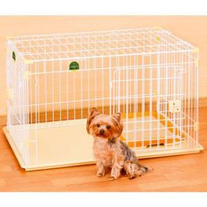 アドメイト 犬用サークル 2ドアパピーサークル 屋根面・トイレセット|pet-square