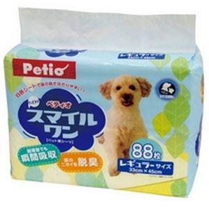 ペティオ ペットシーツ Petio NEWスマイルワン レギュラー 88枚 ペットシート トイレシート 犬 トイレシーツ|pet-square