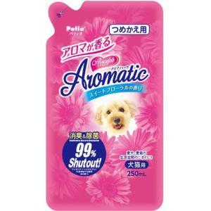ペティオ ペット用消臭スプレー エアセレブ アロマティック 消臭剤 スイートフローラル つめかえ用 250ml|pet-square