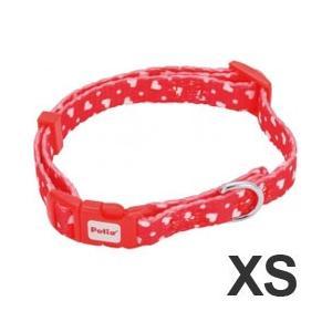 犬 首輪 ペティオ アルファッション ハートドットカラ− XS レッド ミニ犬用 pet-square