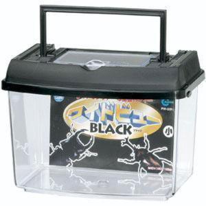 プラケース ワイドビューBL S(小) PW-02BL ブラック (飼育容器 飼育ケース 昆虫 虫かご)|pet-square