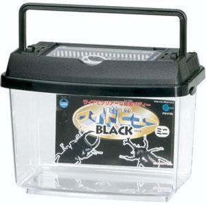 プラケース ワイドビューBL ミニ PW-01BL ブラック (飼育容器 飼育ケース 昆虫 虫かご)|pet-square