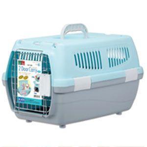 マルカン 2ドアキャリー 小型犬・猫用 DP-172 ブルー (キャリーバッグ・キャリーケース)|pet-square