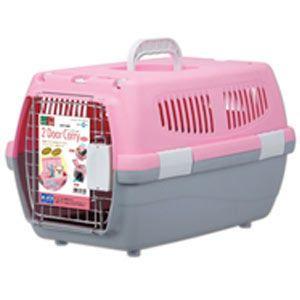 マルカン 2ドアキャリー 小型犬・猫用 DP-173 ピンク (キャリーバッグ・キャリーケース)|pet-square