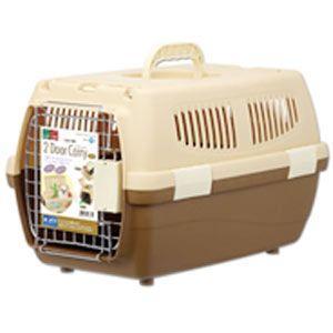 マルカン 2ドアキャリー 小型犬・猫用 DP-174 ブラウン (キャリーバッグ・キャリーケース)|pet-square