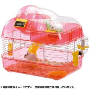 マルカン ハムスター用ゲージ 2階でくるくる M ピンク MR-953 (ケージ・檻) pet-square