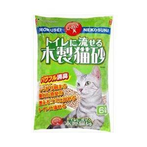 猫用品 常陸化工 猫砂 トイレに流せる 木製猫砂 6L|pet-square