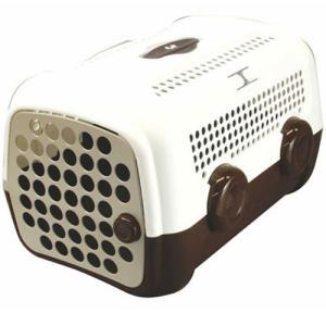 犬 キャリーバッグ ユナイテッドペッツ キャリーケース オート ホワイト ブラウン|pet-square