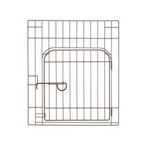 リッチェル カスタムペットサークル 単品 60 入口付 ブラウン 犬 室内|pet-square
