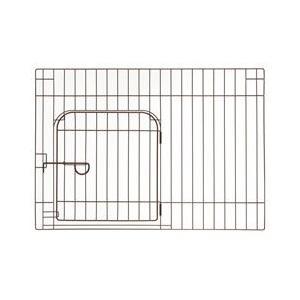 リッチェル カスタムペットサークル 単品 90 入口付 ブラウン 犬 室内|pet-square