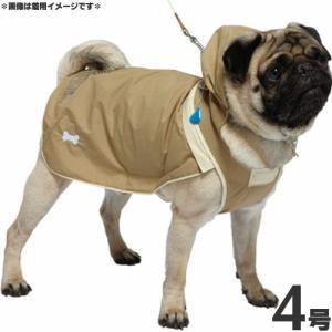 ドギーマン 犬 レインコート スポーティーレインウェア 2WAYマントタイプ 4号 マットベージュ 犬 カッパ|pet-square