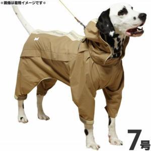 ドギーマン 犬 レインコート スポーティーレインウェア ズボンタイプ 7号 マットベージュ 犬 カッパ|pet-square