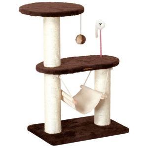 猫用品 ドギーマン キャットタワー キャティースクラッチリビング コンパクトハンモック|pet-square
