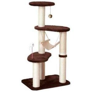 猫用品 ドギーマン キャットタワー キャティースクラッチリビング ハンモックタワー|pet-square