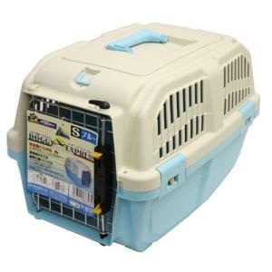 ドギーマン 犬 キャリーバッグ イタリア製ハードキャリー DOGGY EXPRESS S ブルー (キャリーケース)|pet-square