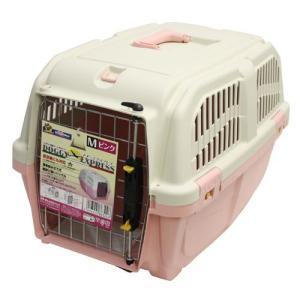 ドギーマン 犬 キャリーバッグ イタリア製ハードキャリー DOGGY EXPRESS M ピンク (キャリーケース) pet-square
