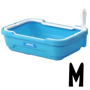 猫用品 ボンビ しつける トイレ M ライトブルー (猫のトイレ)|pet-square