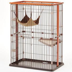 ボンビ 猫用室内ケージ ウッドワンサークルキャット 2段タイプ (猫 ケージ・ゲージ・サークル)|pet-square