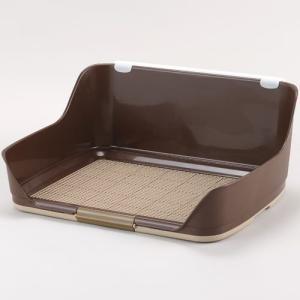 ボンビ 犬用トイレトレー しつけるウォールトレー M ブラウン (ペットトレー ペットトイレ)|pet-square