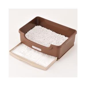 猫用品 ボンビアルコン 猫用トイレ ウィークリー トイレ セット ブラウン|pet-square