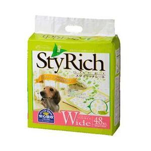 ペットシーツ クリーンワン スタイリッチシート グリーンブーケの香り ワイド 60×45cm 48枚 ペットシート トイレシート 犬 トイレシーツ|pet-square