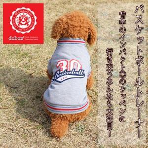 (EC)犬の服 バスケットボールトレーナー グレー (S-2XL、DM、DLサイズ)(dobaz ドバズ)(送料無料/代金引換不可/同梱不可) pet-square