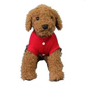 (EC)犬の服 ドクロと迷彩のワンピース(レッド) (S〜XLサイズ) HUGGY BUDDY'S(送料無料/代金引換不可/同梱不可)|pet-square|02