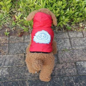 (EC)愛犬用 リバーシブル ダウンジャケット/レッドxブルー(S〜XLサイズ)犬/服/ダウン(送料無料/代金引換不可/同梱不可)|pet-square|04