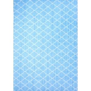 簡単 貼ってはがせる 布 ステッカー リメイク DIY シート 自由に作れる A4サイズ #モロッカン(ヨコ) ブルー|petatec-store