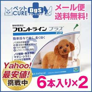 犬用 フロントラインプラス ドッグ S(5〜10kg) 6ピペット×2箱セット〔1セットまでメール便対応・代引き不可〕