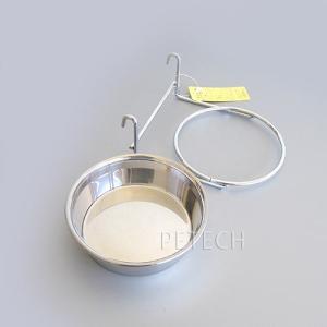 【セット販売】ステンレス食器とホルダー 各11cm ペット用食器|petech