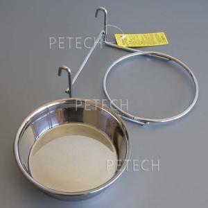 【セット販売】ステンレス食器とホルダー 各13cm ペット用食器|petech