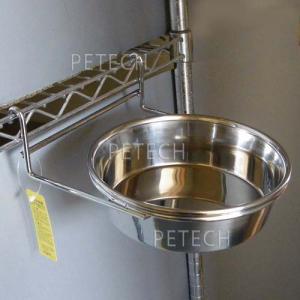 【セット販売】ステンレス食器とホルダー 各16cm ペット用食器|petech