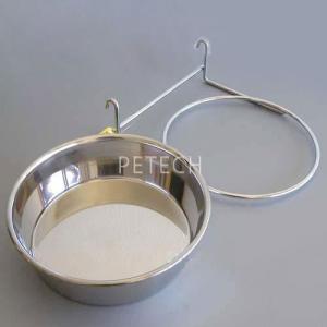 【セット販売】ステンレス食器とホルダー 各23cm ペット用食器|petech
