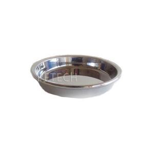 ★即日発送対象 【国産】ステンレス食器 皿型(浅型) 12cm|petech