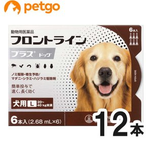 【2箱セット】犬用フロントラインプラスドッグL 20kg〜40kg 6本(6ピペット)(動物用医薬品)|petgo