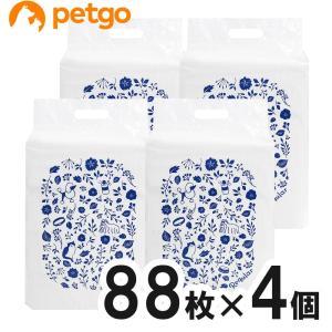 【new】ペットゴー 炭でニオイを吸着する超厚型シーツ レギュラー 88枚×4個【まとめ買い】